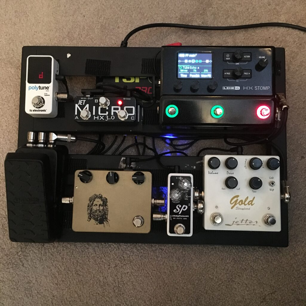 Andrew Timothy Touring Pedal Board Front